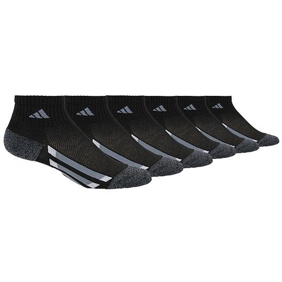 Adidas® Boys' Climalite 6-Pack Quarter Socks