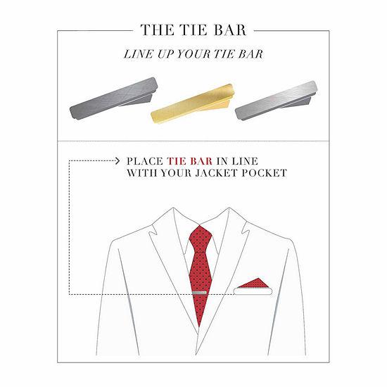Rhodium-Plated Tie Bar