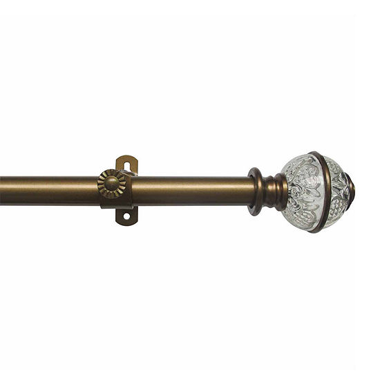 """Camino ¾"""" Adjustable Curtain Rod with Lancaster Finial"""