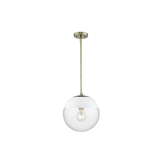 Golden Lighting Dixon Pendant in Aged Brass with Clear Glass