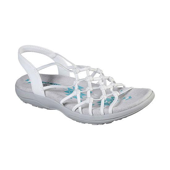 Skechers Womens Reggae Slim - Forget Me Knot Criss Cross Strap Flat Sandals