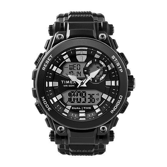 Timex Mens Black Strap Watch-Tw5m30600jt