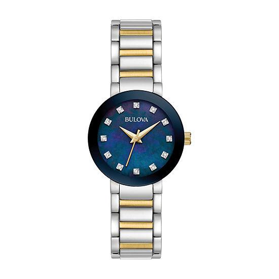 Bulova Futuro Womens Two Tone Stainless Steel Bracelet Watch - 98p157