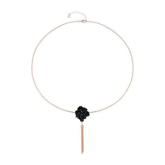Mixit Black Flower 28 Inch Cable Pendant