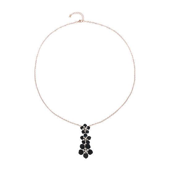 Mixit Black Flower 32 Inch Cable Pendant