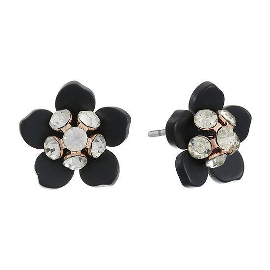 Mixit Black Flower 28.5mm Stud Earrings