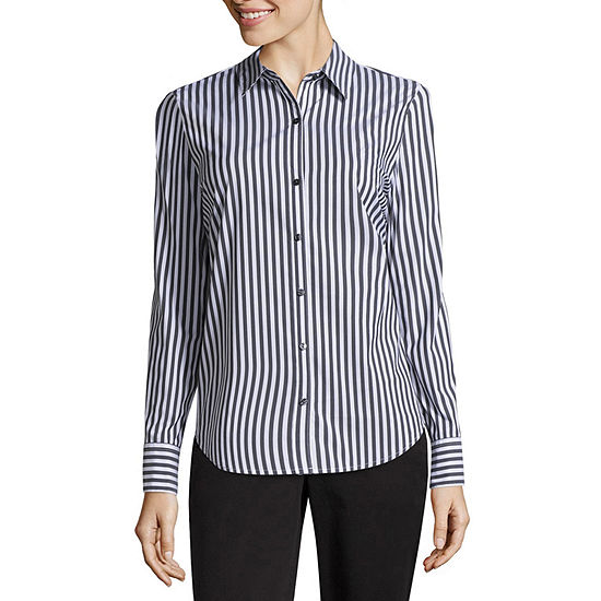 Worthington Long Sleeve Essential Shirt - Tall