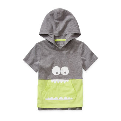 Okie Dokie Boys Short Sleeve Hooded Tee-Toddler