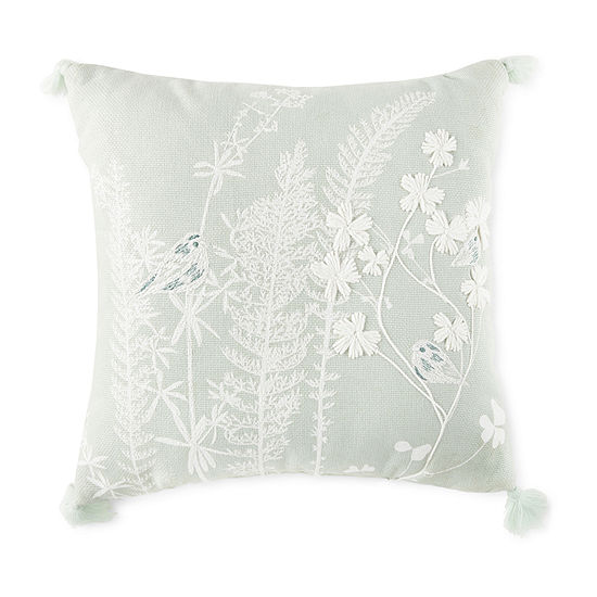 JCPenney Home Botanical Floral Square Throw Pillow