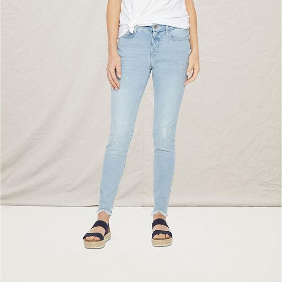 a.n.a Womens High Rise Ripped Skinny Jean