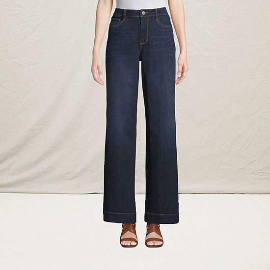 a.n.a Womens High Rise Wide Leg Jean