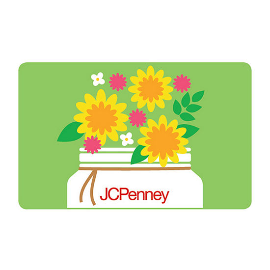Green Flower Jar Gift Card