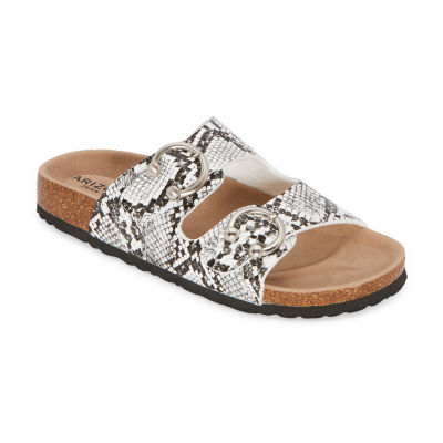 Arizona Frant Womens Adjustable Strap Footbed Sandals