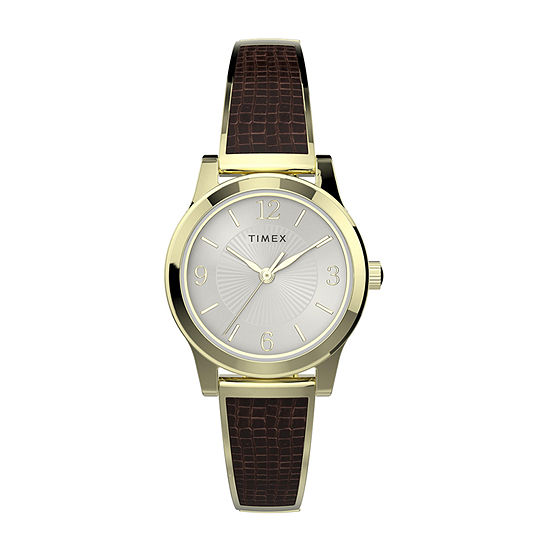 Timex Womens Gold Tone Stainless Steel Expansion Watch-Tw2t31600jt