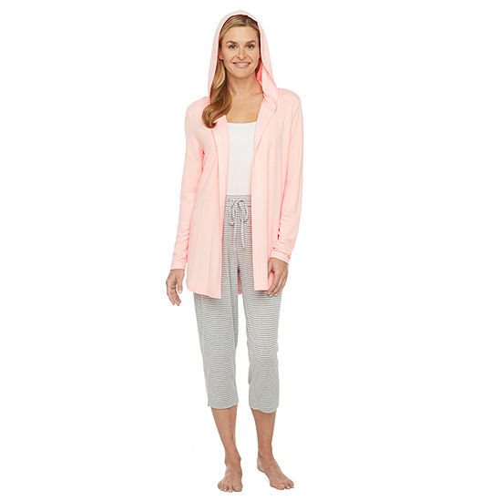 Ambrielle Womens Pajama Top Hooded Neck