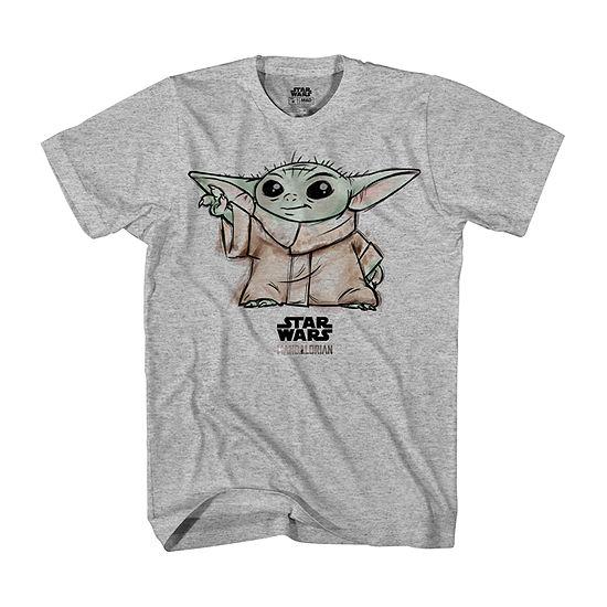 Disney Mandalorian The Child Little & Big Boys Crew Neck Star Wars Short Sleeve Graphic T-Shirt