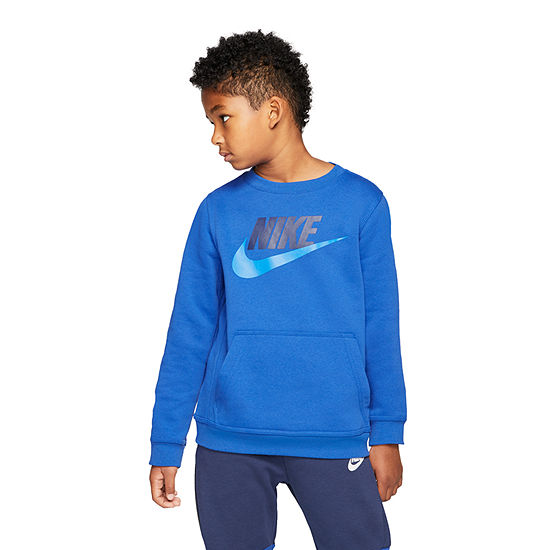 Nike Big Boys Crew Neck Long Sleeve Sweatshirt