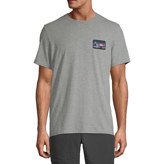 St. John's Bay Mens Crew Neck Short Sleeve Graphic T-Shirt