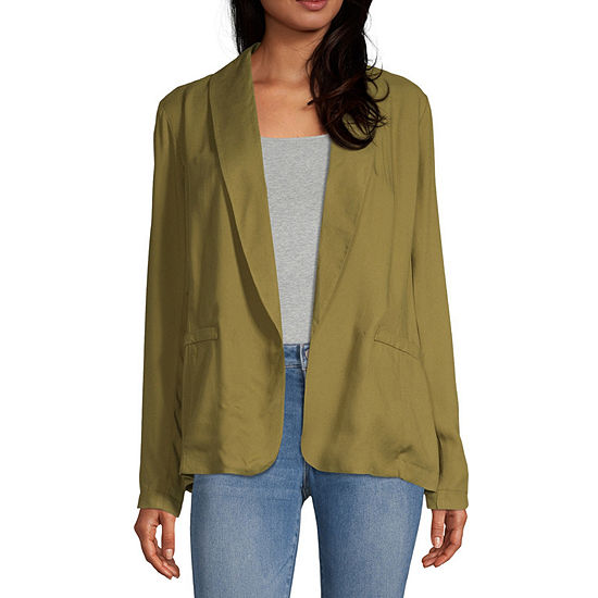 Society And Stitch Womens Classic Fit Twill Blazer-Juniors