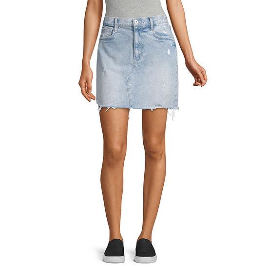 Arizona Womens Denim Skirt-Juniors