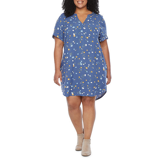 a.n.a Womens Easy Popover Dress - Plus