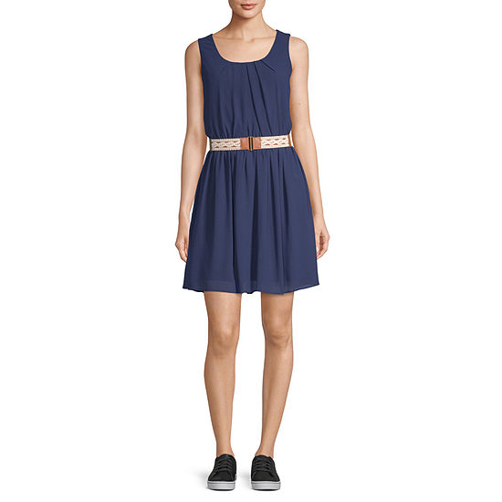 Byer California-Juniors Sleeveless Fit & Flare Dress