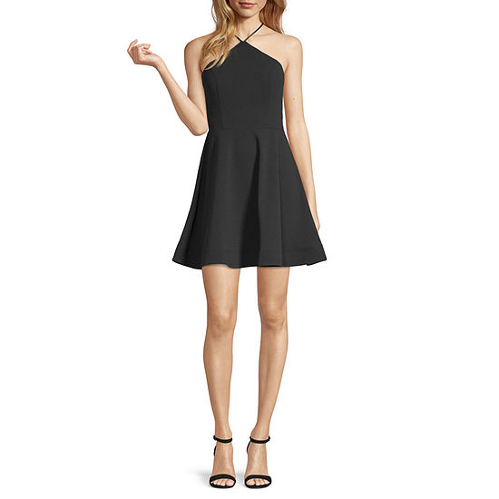 My Michelle-Juniors Sleeveless Fit & Flare Dress