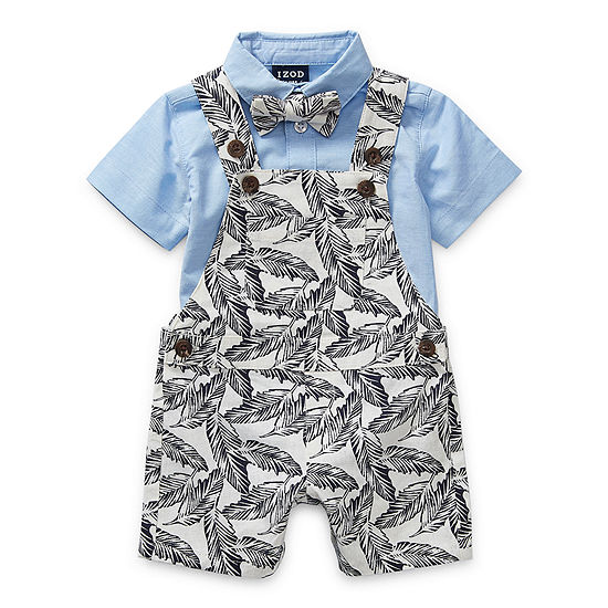 IZOD Tropical Baby Boys Shortalls