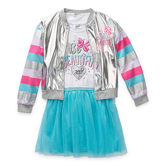 Jojo Siwa Little Kid / Big Kid Girls 2-pc. Skirt Set