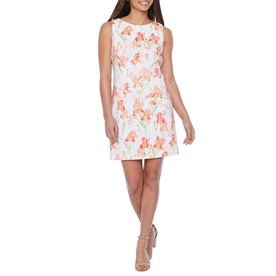 Alyx Sleeveless Floral Sheath Dress - Petite