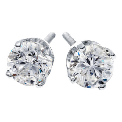 1/4 CT. T.W. Diamond Stud Earrings 14K White Gold