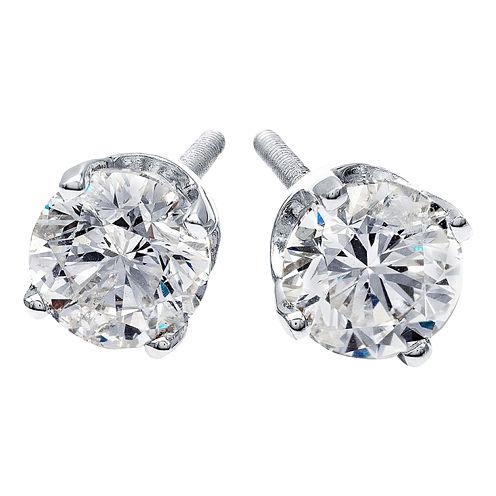 1/4 CT. T.W. Diamond Stud Earrings 14K White Gold