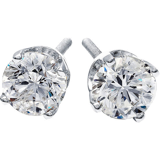 41702b981 1 CT TW Diamond Stud Earrings 14K White Gold JCPenney