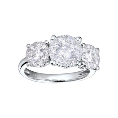 Brilliant Dream™  3/4 CT. T.W. Diamond 3-Stone Style Engagement Ring