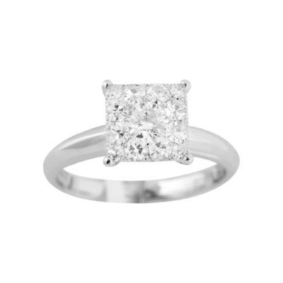 Brilliant Dream™  3/4 CT. T.W. Princess-Style Diamond Engagement Ring