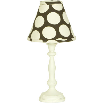 Cotton Tale Raspberry Dot Lamp