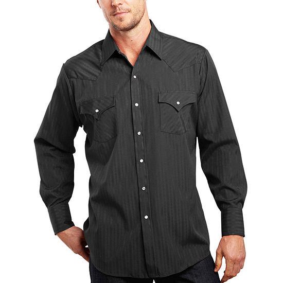Ely Cattleman® Long-Sleeve Tonal Snap Shirt - Big & Tall