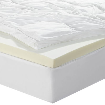 "Sleep Innovations® 4"" Dual Layer Memory Foam Topper"