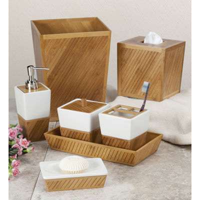 Spa Bamboo Ceramic Bath Collection