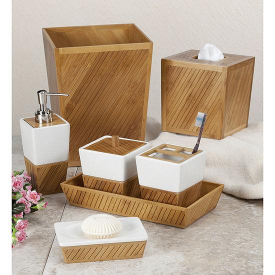 Spa Bamboo Ceramic Bath Collection