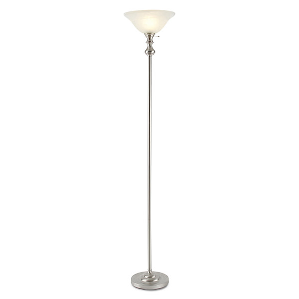 jcp home Brushed Nickel Torchiere Floor Lamp