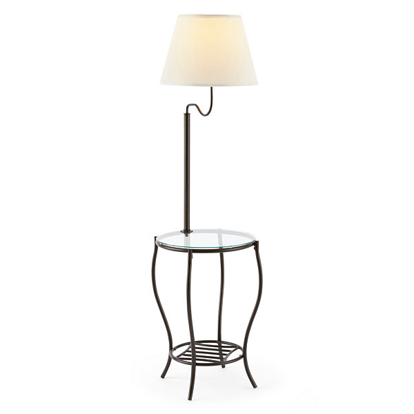 JCPenney Home Bronze Floor Lamp with Side Table JCPenney