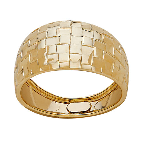Made In Italy Womens 14K Gold Band