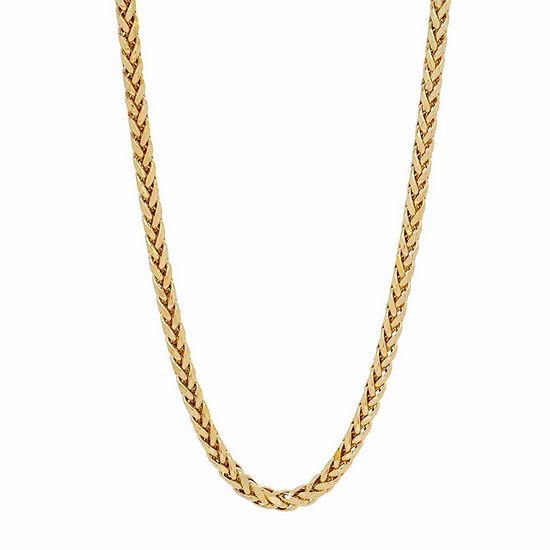 Womens 22 Inch 14K Gold Link Necklace
