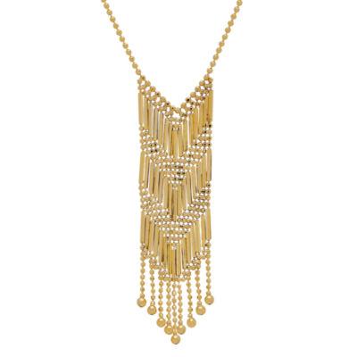 Womens 14K Chevron Necklace