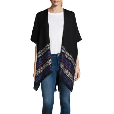 Libby Edelman Elbow Sleeve Geometric Kimono