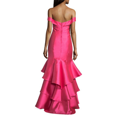 B. Darlin Off shoulder Fitted Gown-Juniors