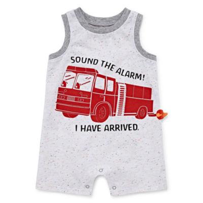 Okie Dokie 3D Fire Truck Creeper - Baby Boy NB-12M