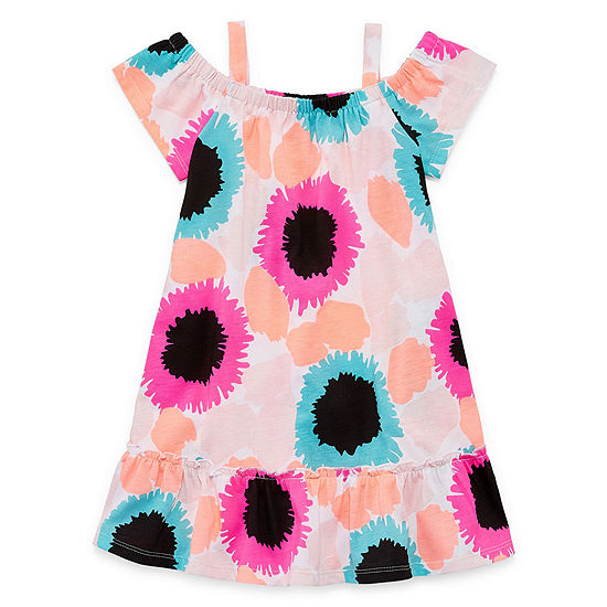Okie Dokie Toddler Girls Short Sleeve Babydoll Dress