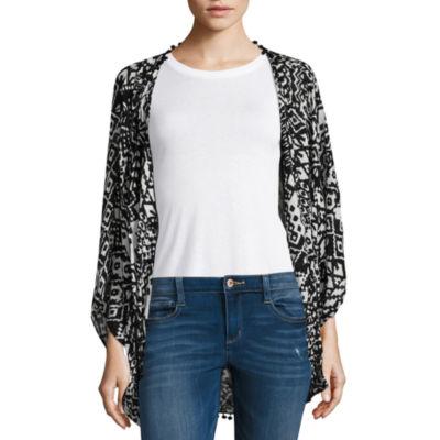 Mixit Short Sleeve Geometric Kimono